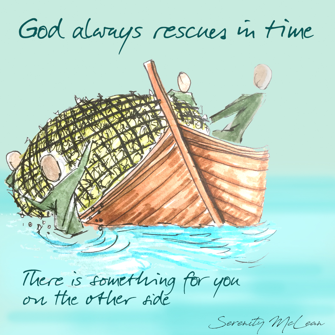 God rescues in time