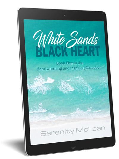 white sands black heart tablet